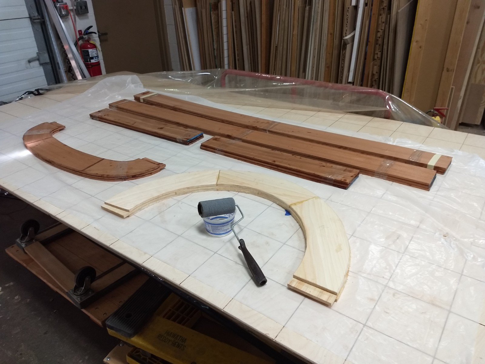 Rolling on the epoxy