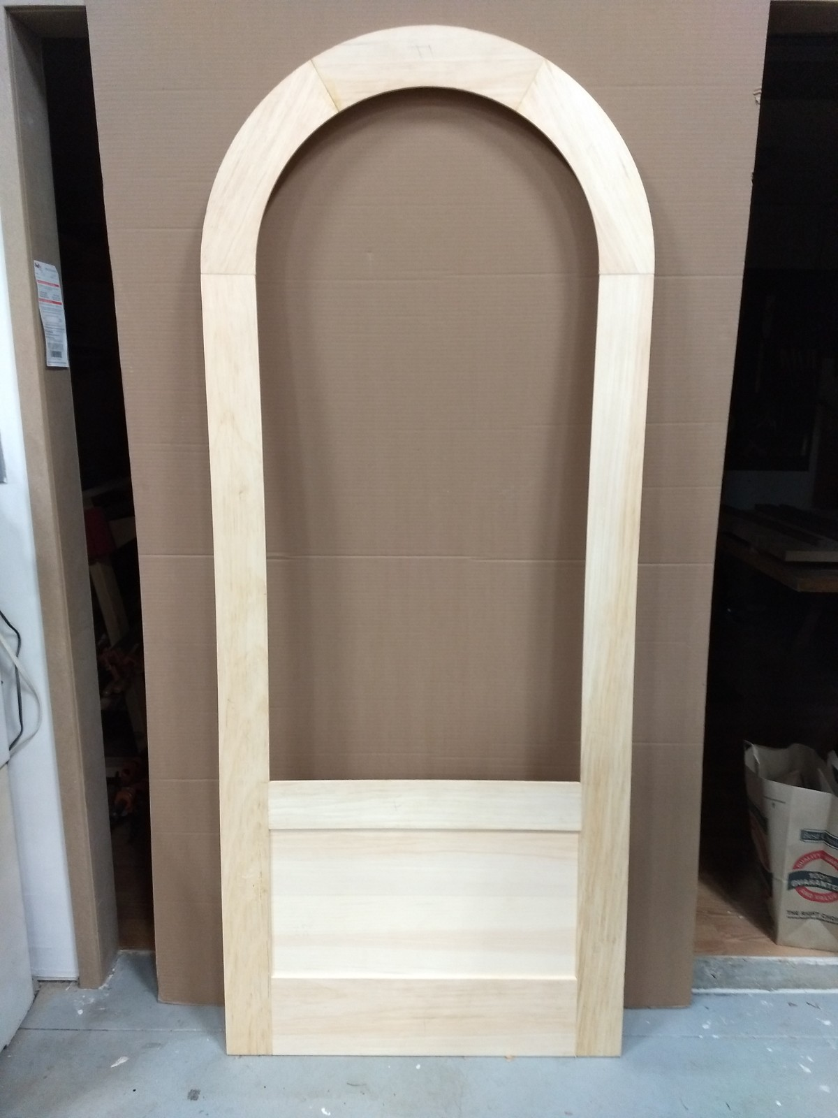 Dry assembled round top