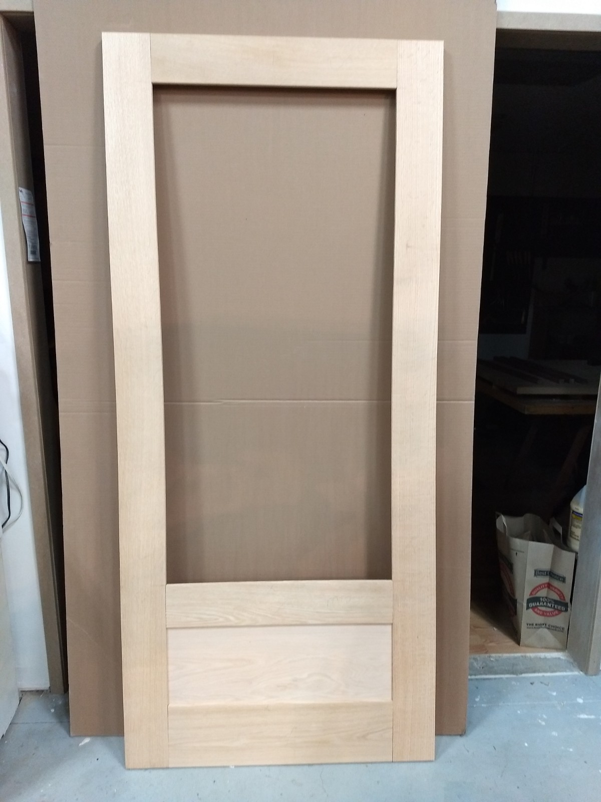 Dry assembled rectangle top