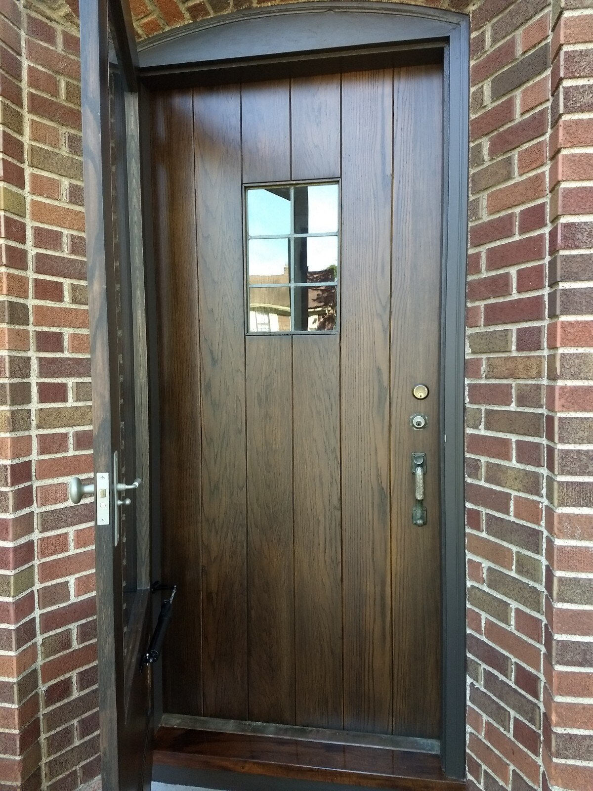 After refinish - Stained red oak