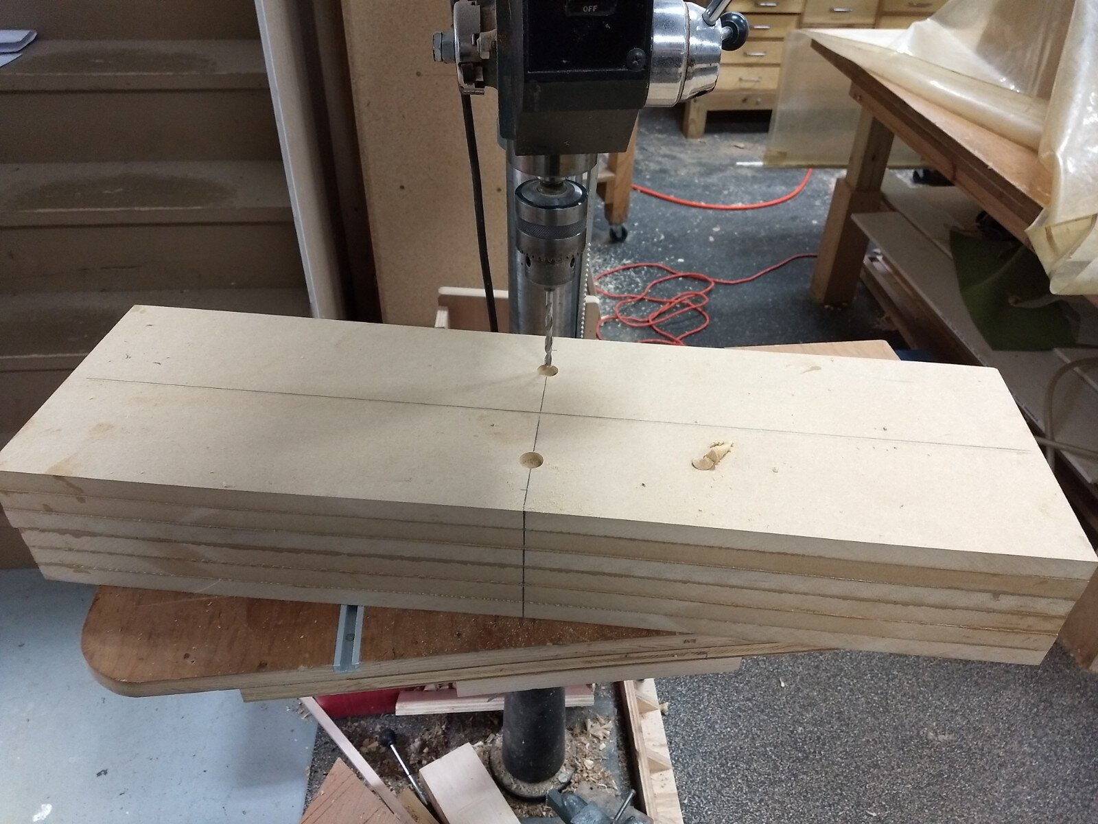 Drilling mounting holes