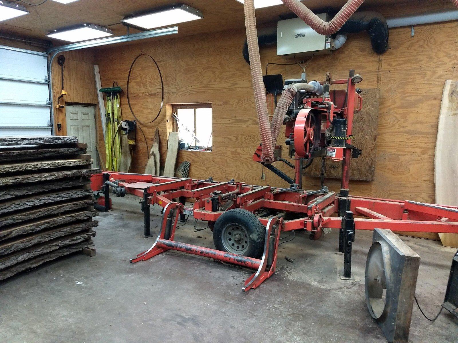 Logs to Lumber saw mill