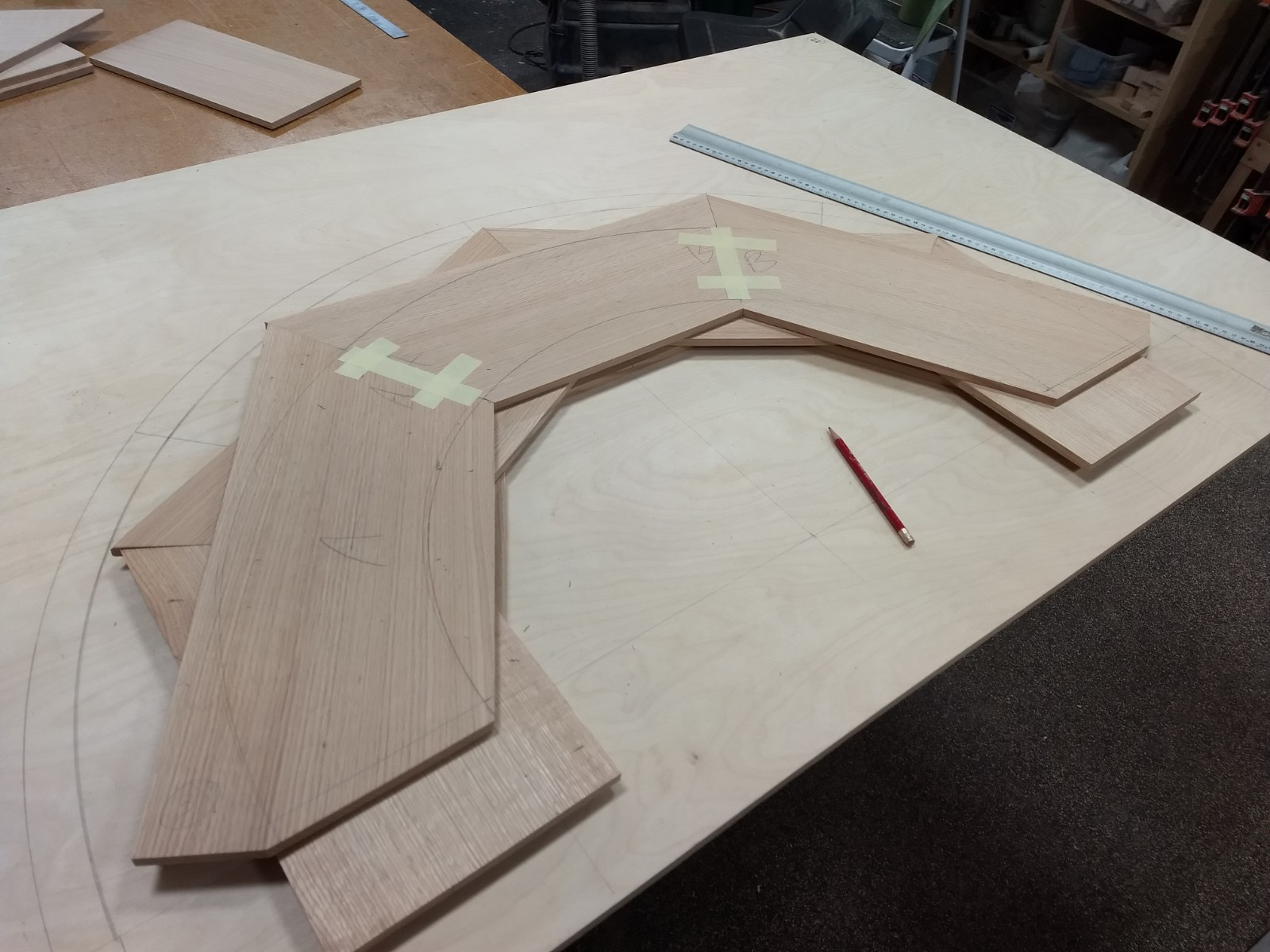 Laying out ply layers