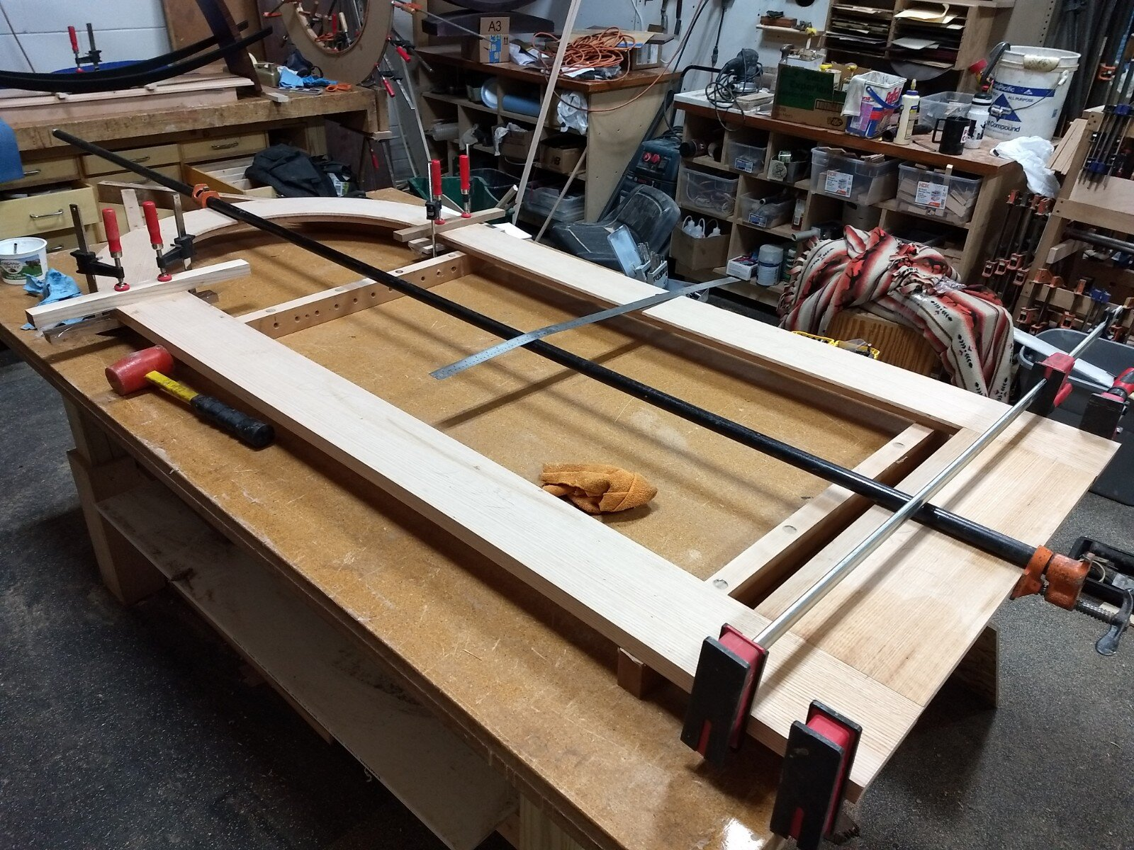 Glued up table