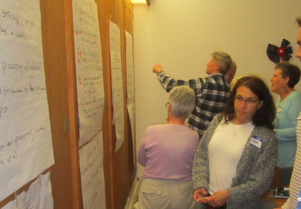 Step #4 - Teams work with CROs to develop a plan with goals to achieve together. - This may include (but is not limited to) organizing the Community Resilience Assessment, skills-building workshops, and project development and implementation. Plans often coincide with wider community goals.