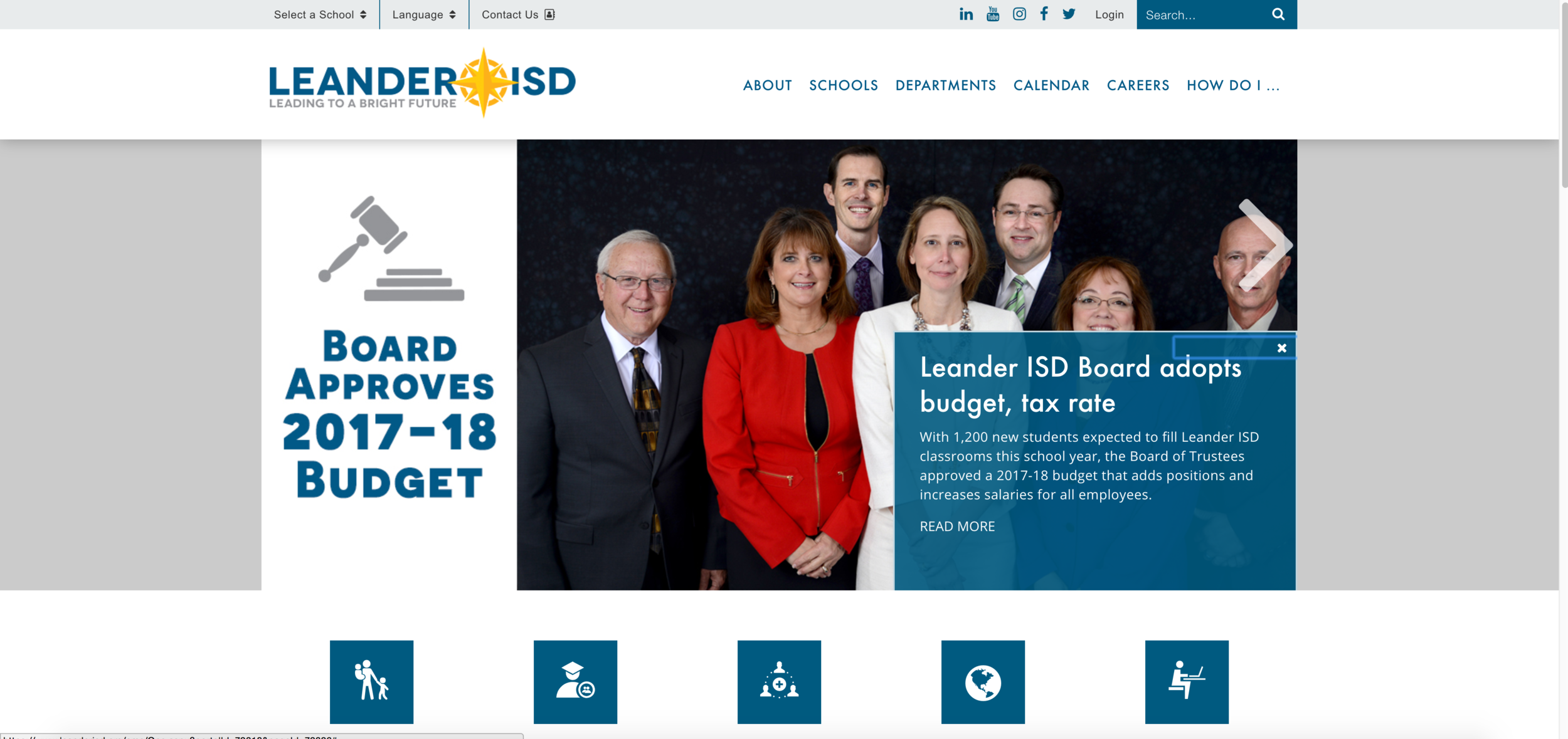 Visit the Leander ISD website here: https://www.leanderisd.org/