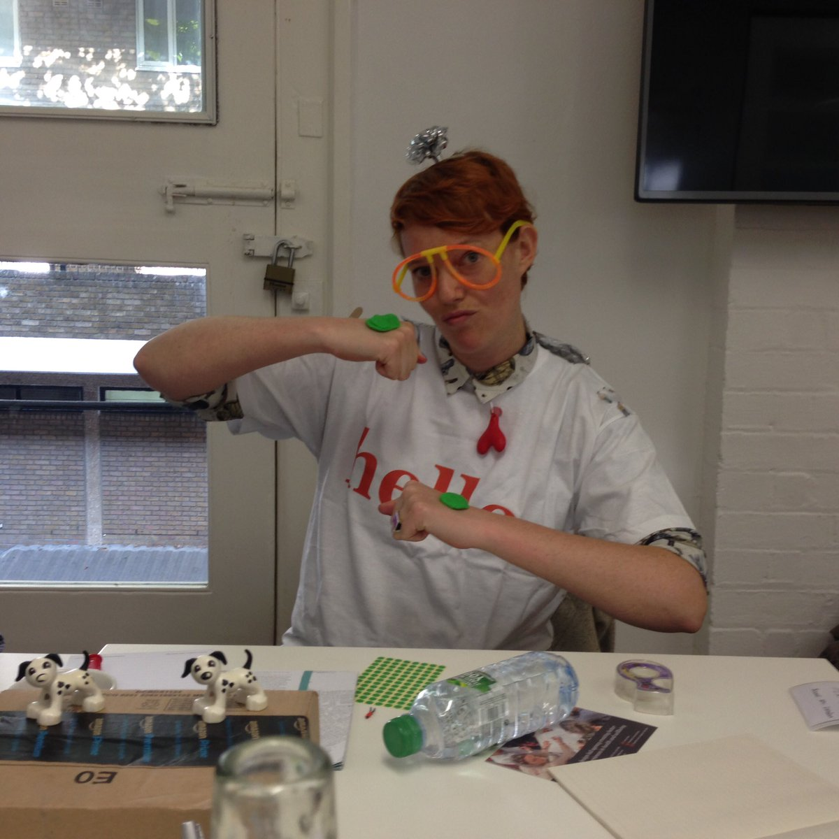 Katie Baggs, Captain of the Ambassadors at the Service Design Fringe Festival, gets stuck into some live prototyping.