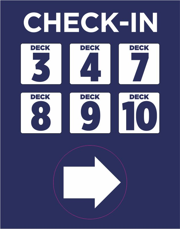 MAGNETIC CHECK IN SIGNAGE