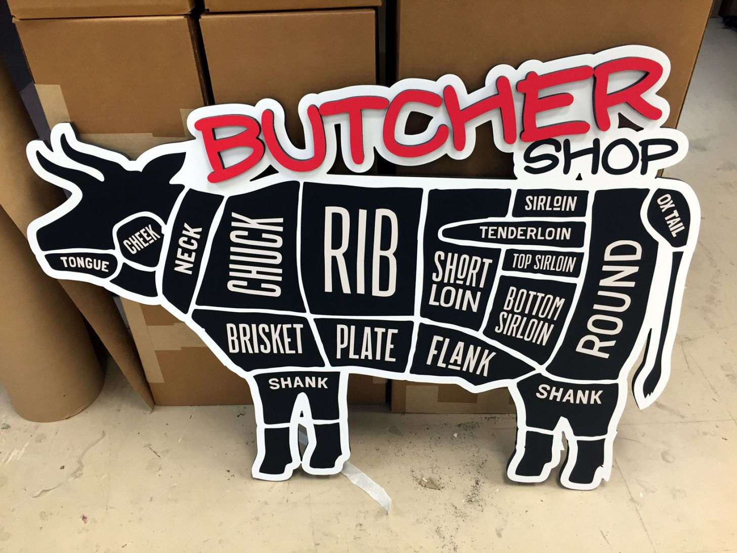 GROCERY STORE BUTCHER SIGN
