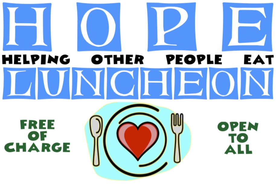 The Next HOPE Luncheon will be Saturday, June 29, from 11:30-1:00 at St. Peter's.