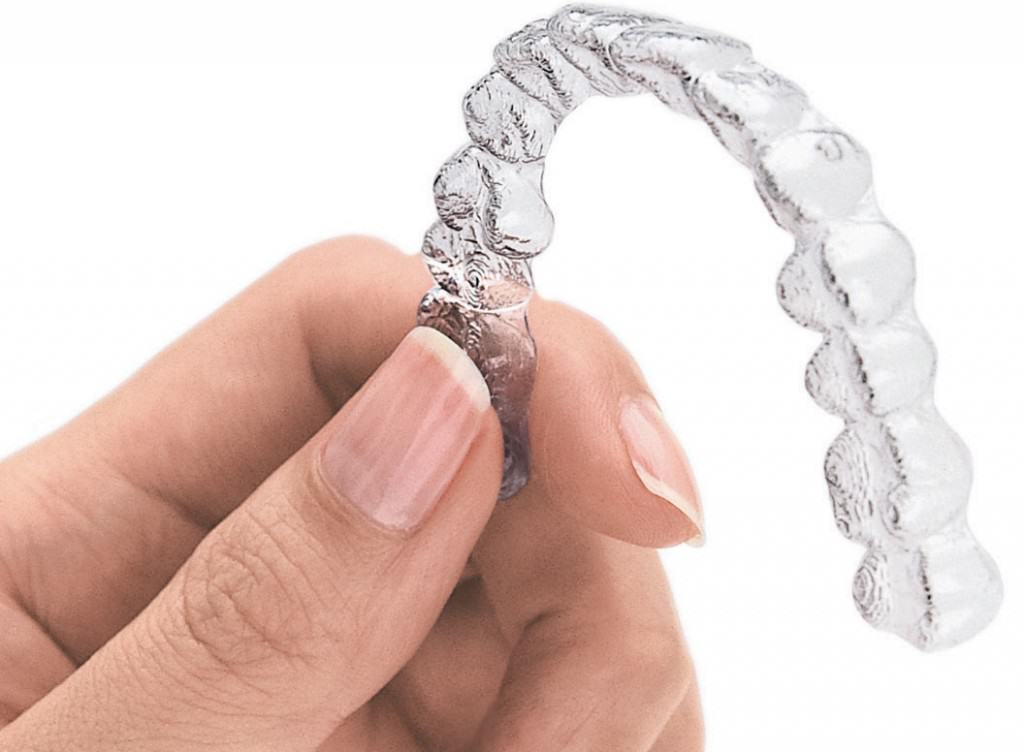 Example of an Invisalign clear aligner