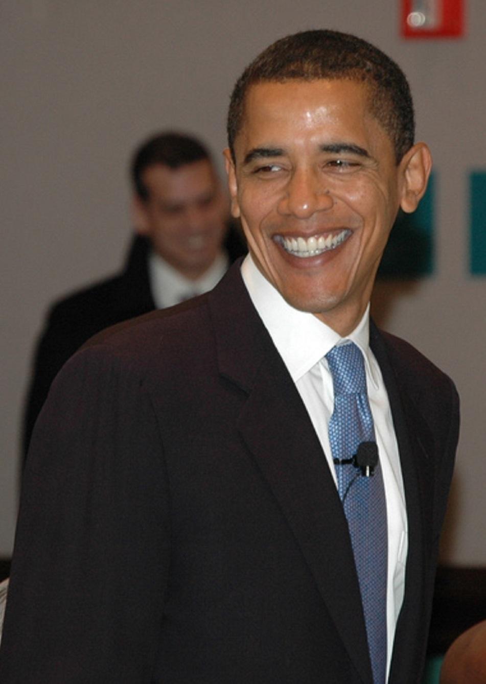 Image of Obama smiling