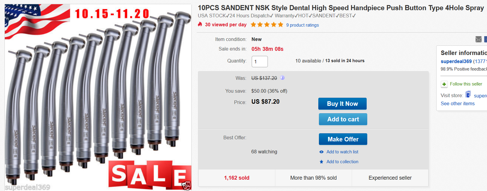 Image of cheap but potentially unsafe dental equipment