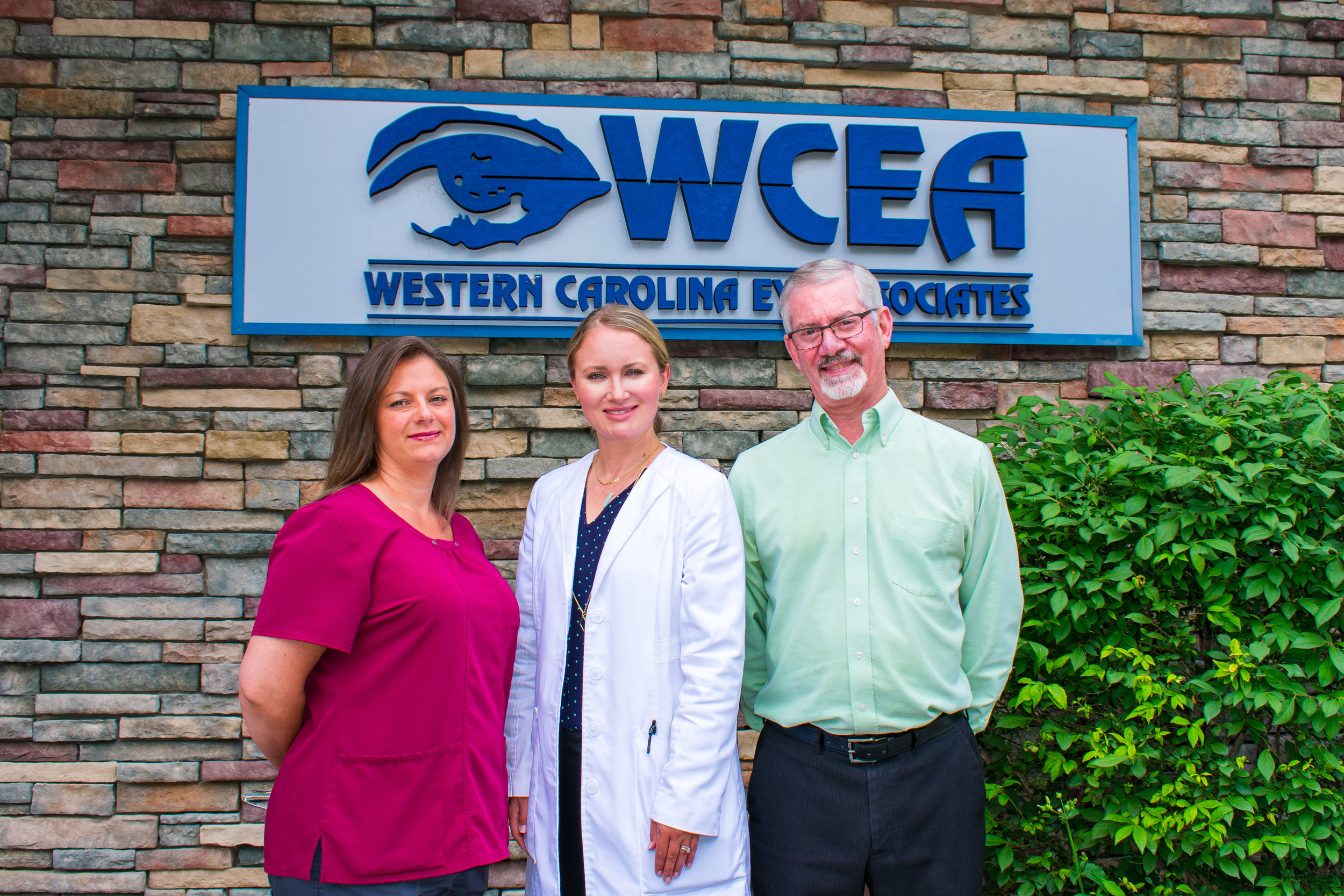 From left to right, Chantel Pelletier, Dr. Sara Creekmore and Tad Steinke. Just a few of the many friendly faces you'll see at Western Carolina Eye Associates in Banner Elk.