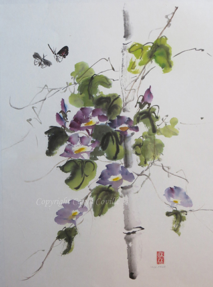 C.Coville Purple Glory , ink and watercolor, 14 x 17.5 in.jpg