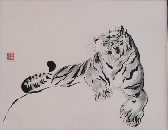G Stewart tiger on rock.jpeg