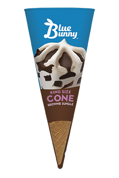 King Size Brownie Sundae Cone