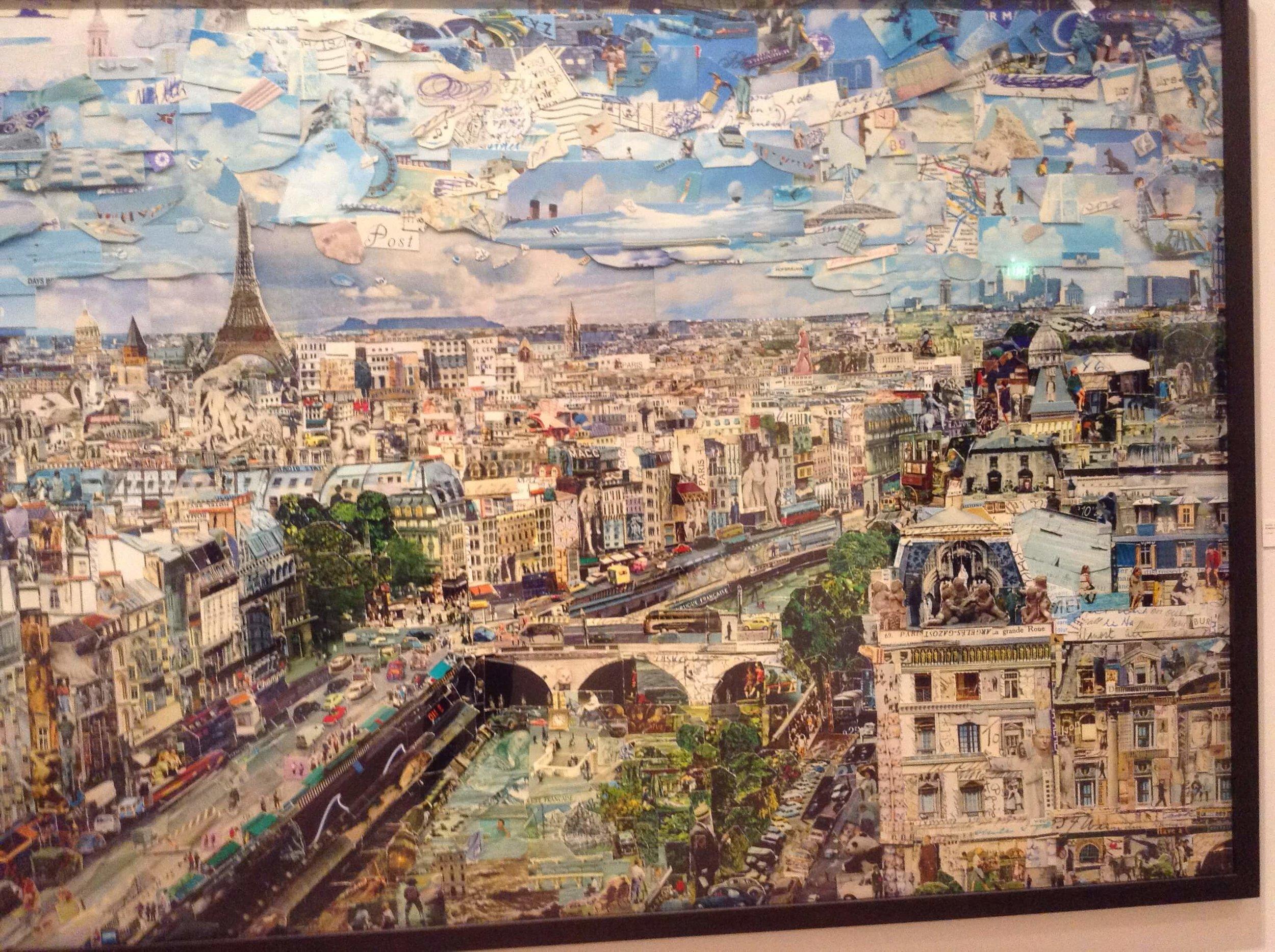 Vic Muniz's collage of Paris