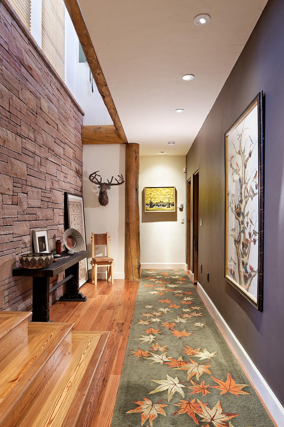Lower level hallway