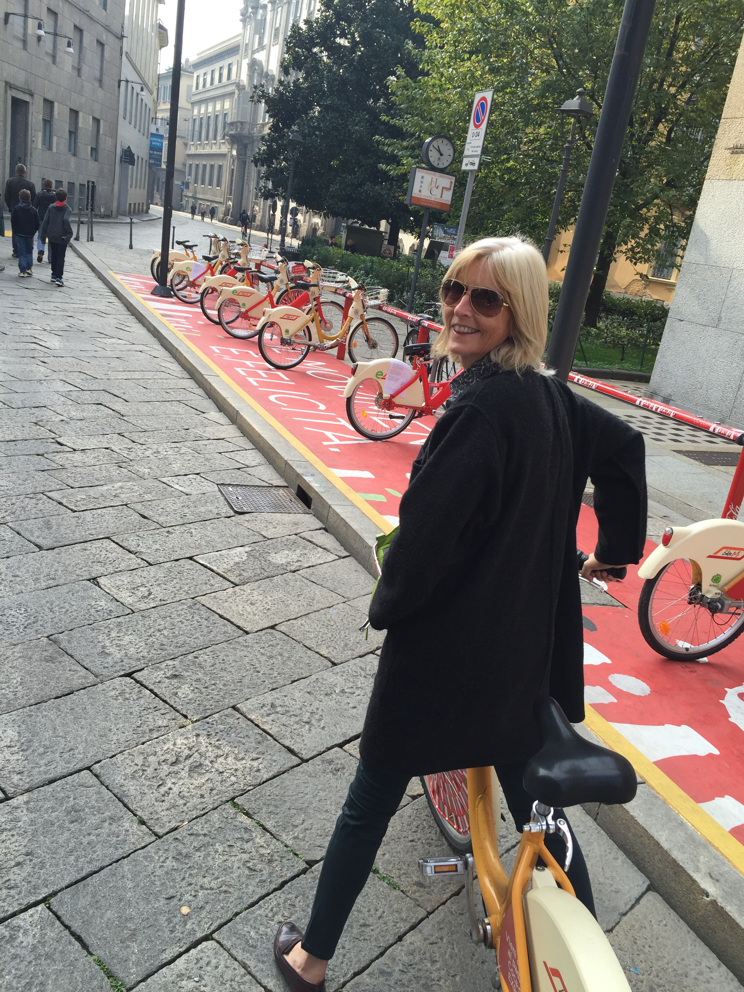 Biking is the best way to explore a city - Milan.