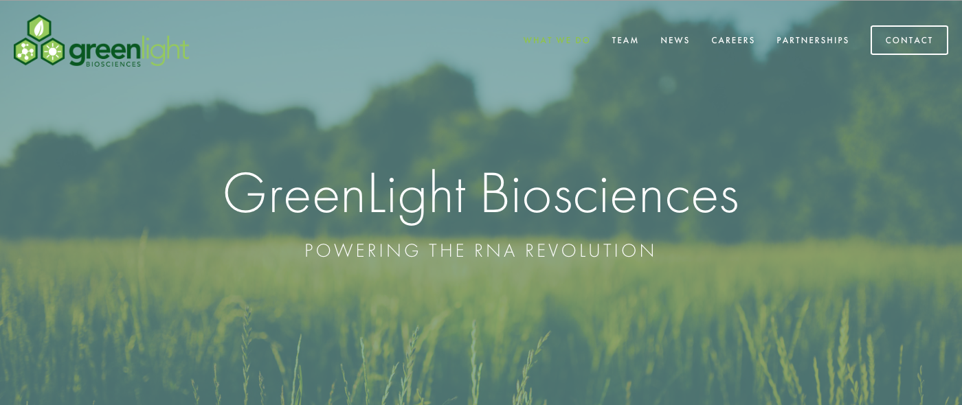 GreenLightBiosciences.com  is a Squarespace website that I re-designed in 2017, starting with a new Visual Style Guide and Content Plan. I designed custom site iconography, reworked the site mapping/layout, and redefined their online brand experience.
