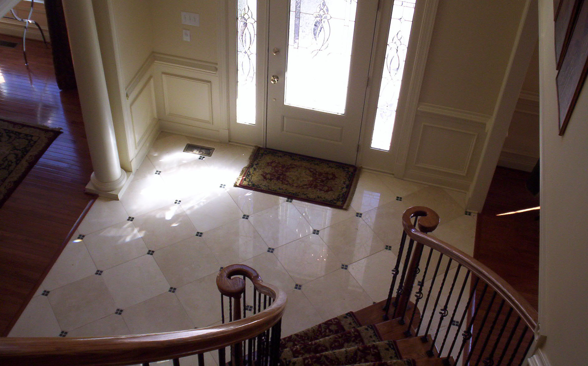 Curved Stairway - Toll Brothers Chesapeake Model