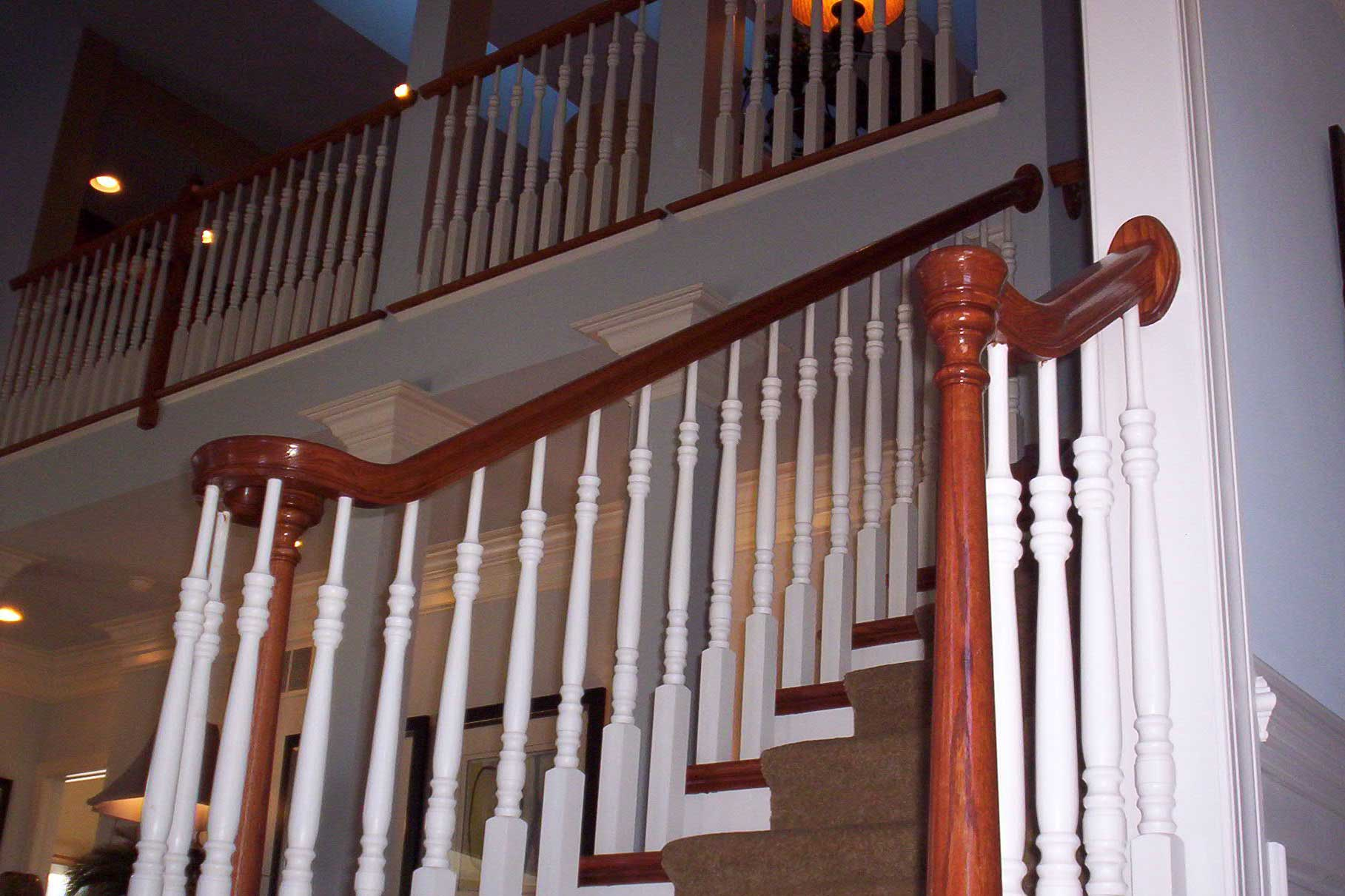 Handrail with Upgrade Spindles - Toll Brothers Grandview Model