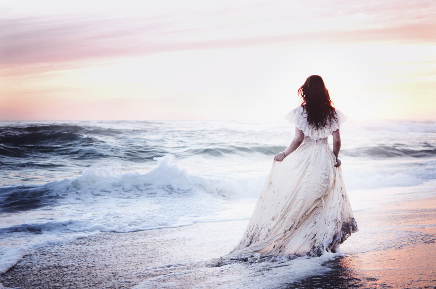 Chasing a Dream - Ethereal Ocean Sunset Portraiture