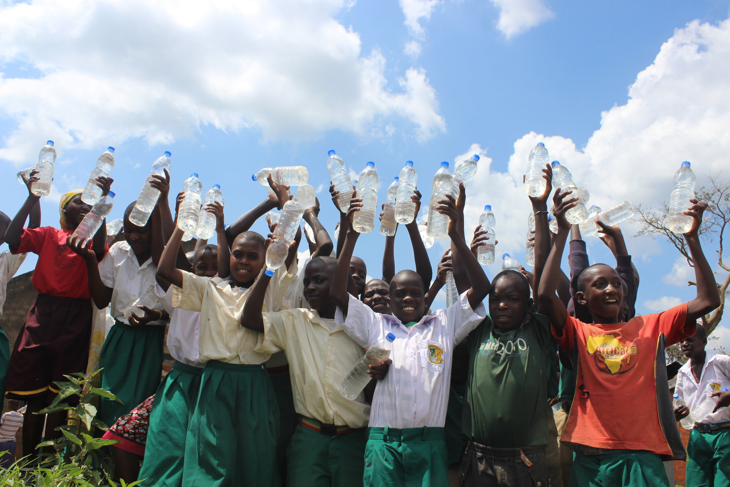 Celebrating clean water in clear plastic bottles