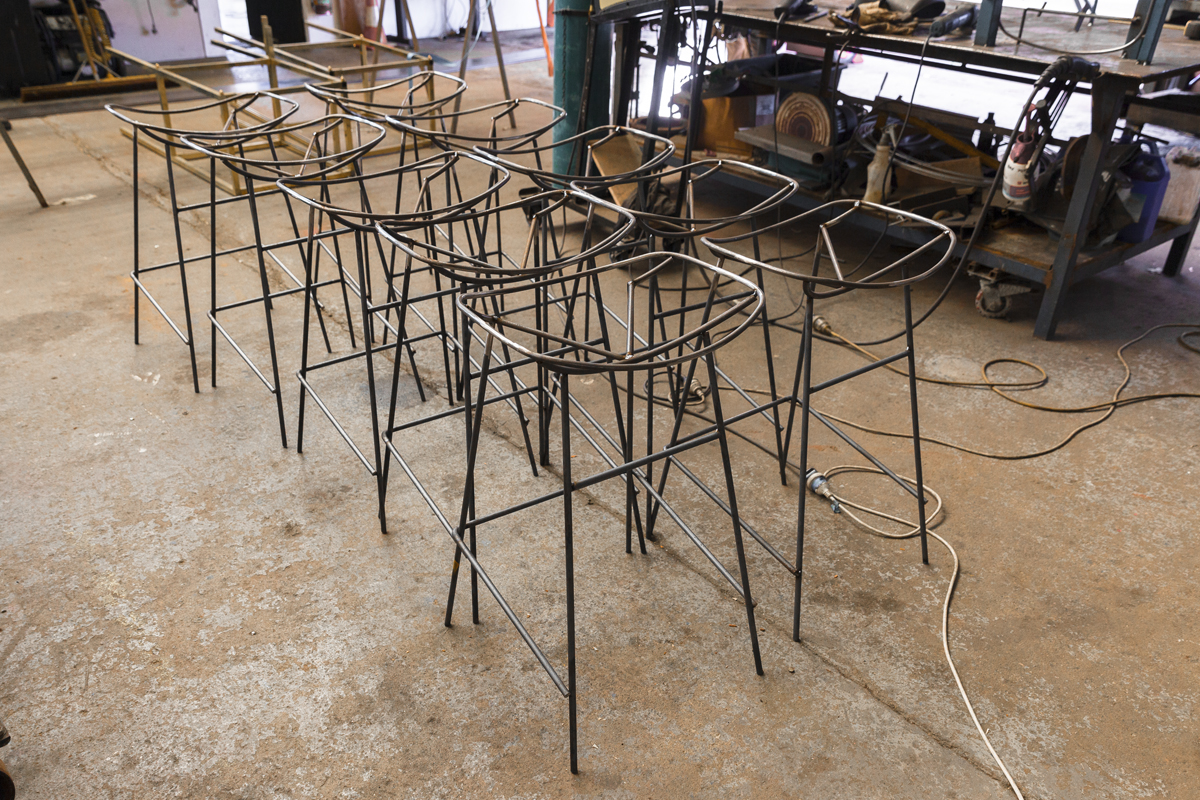 Stools for  Cairo Takeaway  in Enmore. We covered these in a tan leather seat.