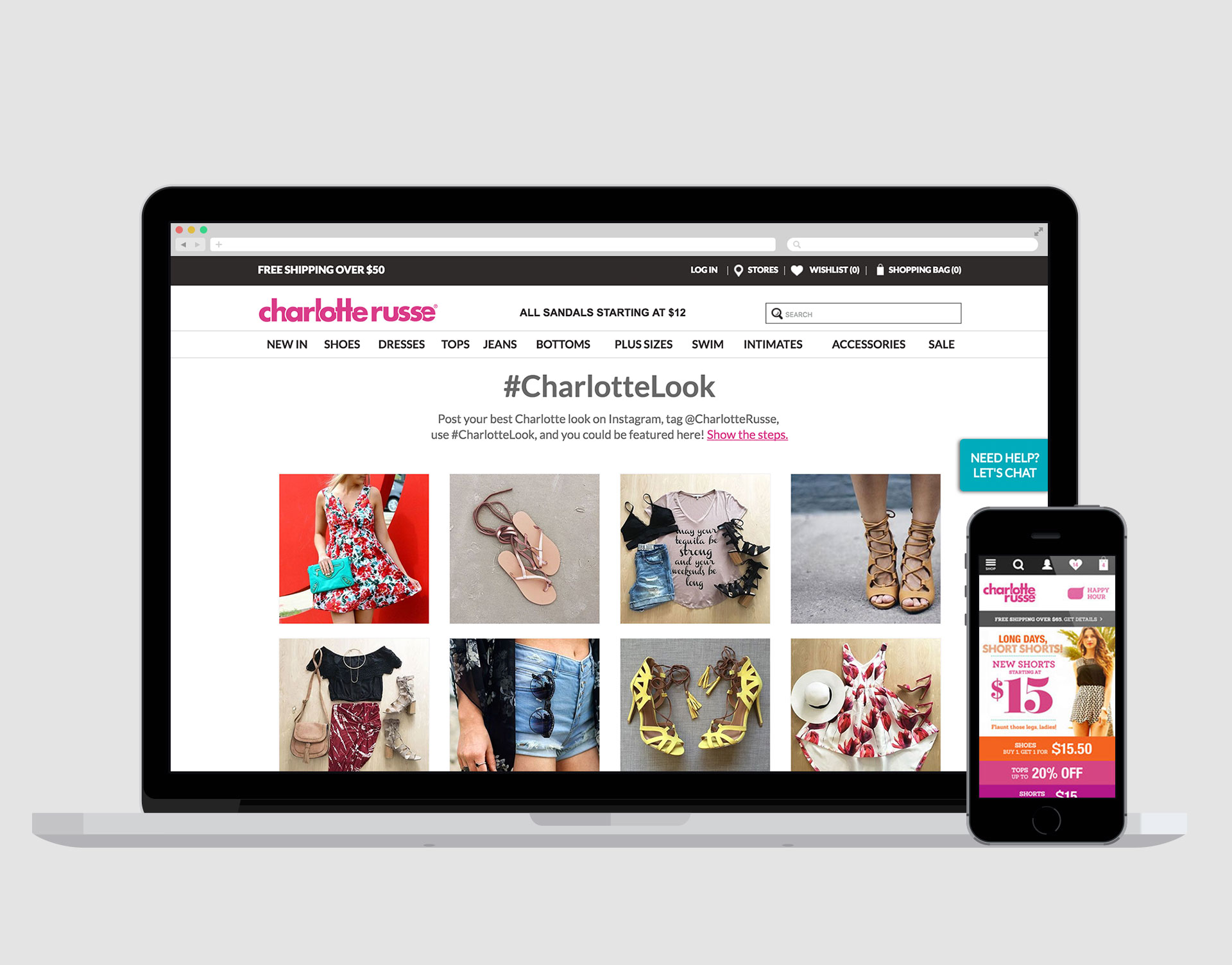 CHARLOTTE RUSSE  SITE REDESIGN + STRATEGY  Following a brand overhaul and site relaunch, a retainer, cross-functional team was engaged to execute campaigns, design site refreshes, perform consumer research, form omni-channel strategies,and measure site performance.    READ MORE →