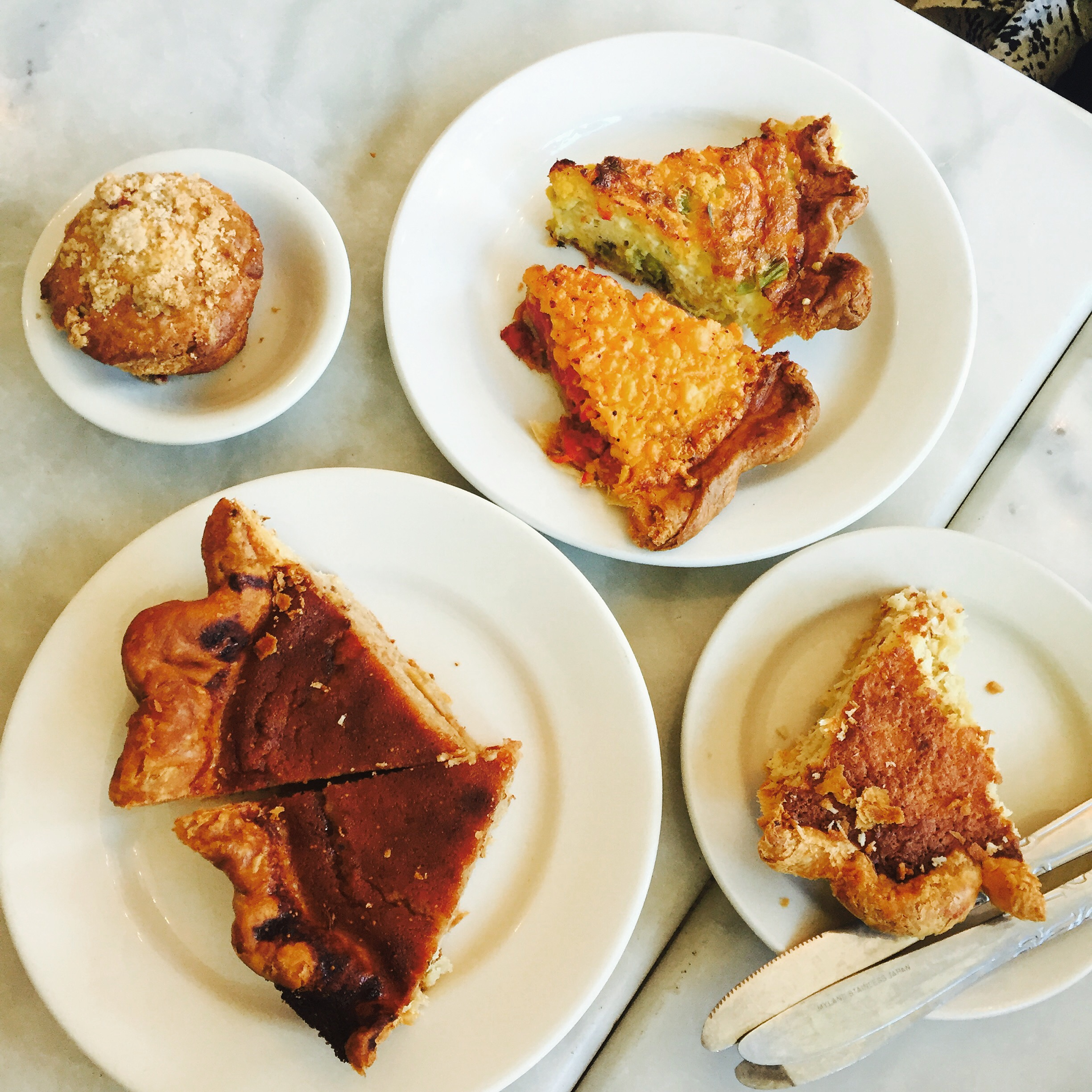 Probably the best meal I have ever had in Brooklyn! Next time you visit Rogers avenue be sure to visit Pels Pie Co!  pictured above: buttermilk pie, coconut pie, mozzarella tomato basil pie, and avocado pie slice!  Website:  Pels Pie Co