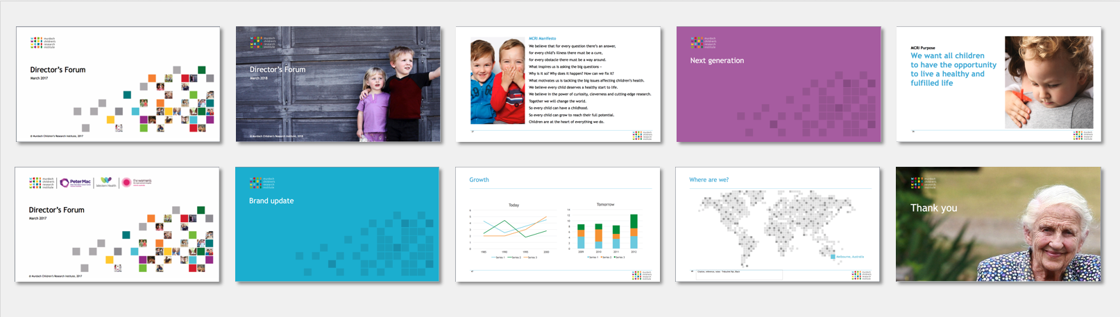 MCRI PowerPoint design and system