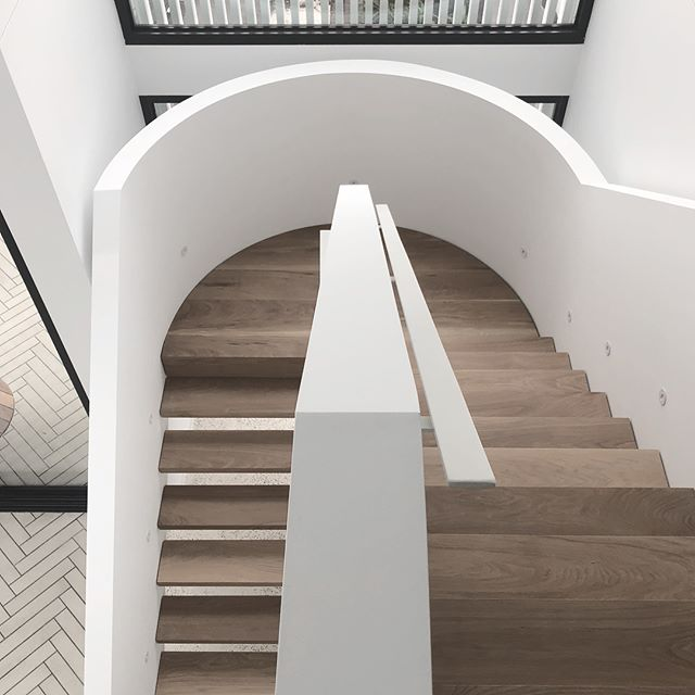 Stair details // Khoo house design by @t_a_square built by @envconstructions