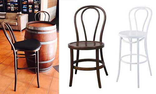 Bentwood Chairs - bar, brown and white