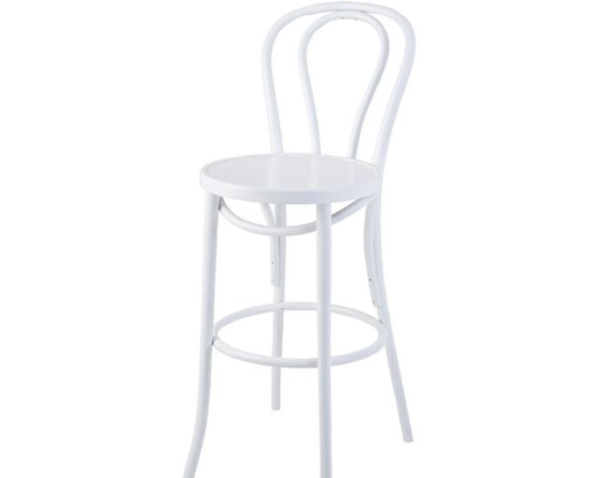 Bentwood in white - White chairs and bar stools available in mid-May.