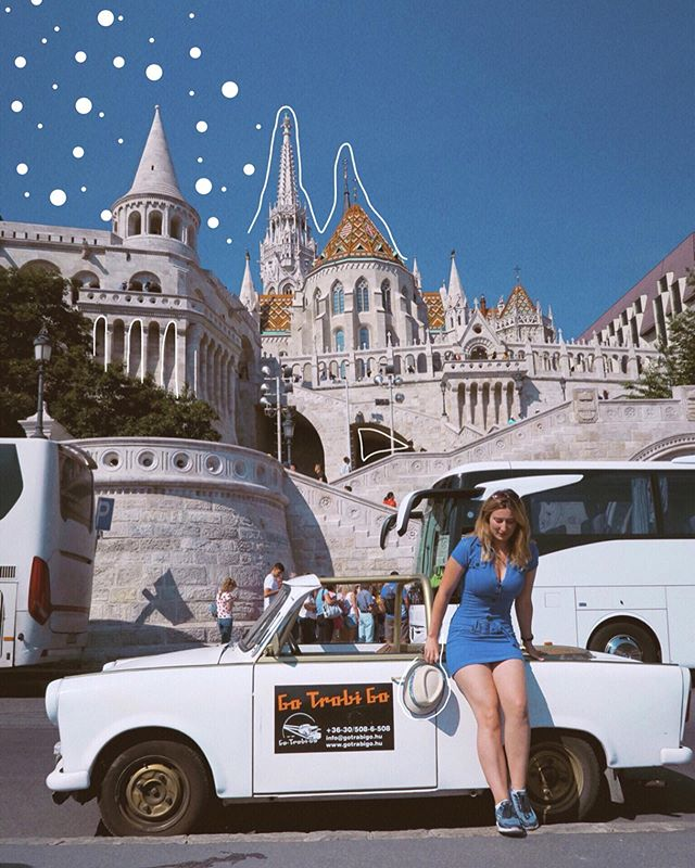Exploring the city in retro style 🇭🇺 I had an absolute ball driving the Trabant car around Budapest 🚗nothing was too much trouble, so when I suggested we drive up the cobblestone roads to the Fisherman's Bastion we went on our way 🏰 a unique and fun way to see the sights of Budapest on your next trip #gifted . . . #trabant #budapest #budapestblogger #budapest_hungary #budapesttravel #budapesttour #budapesttourism #travel #exploreeurope #travelblogger #lifestyleblogger #traveller #blogger #londonblogger #retro #retroaesthetic #retrorides #oldcars #doodle #fishermansbastion