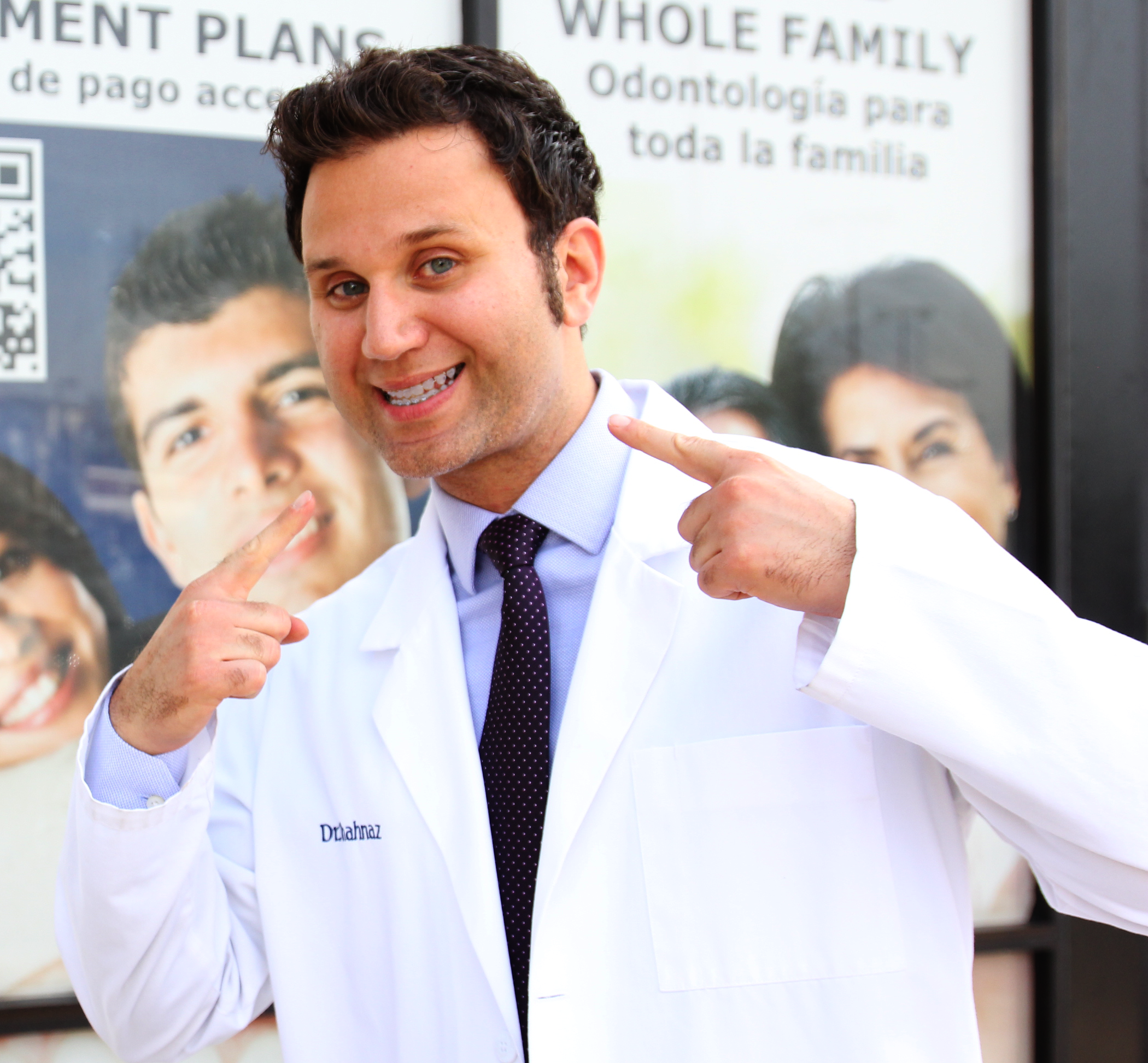 Our very own, Dr. Shanaz showing off his braces!