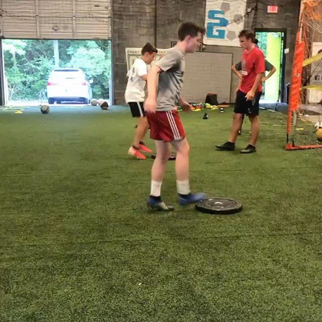 Hard work happening on Sunday nights! Love seeing our athletes continue to strive to become more technical players but also faster, stronger and quicker too! We are packed out this summer! But our SG FIT Camp has a few spots left open. Sign up today at www.soccergenome.com/sg-fit-camp