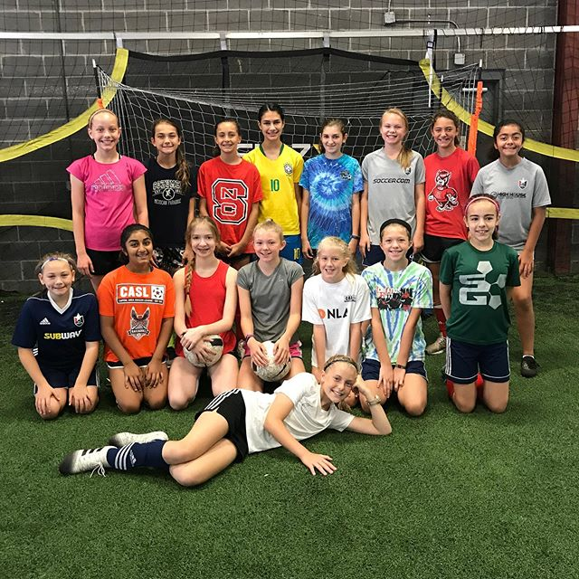 Our summer camps are off to a hot start! These middle school girls smashed it! Such a fun and talented group. There are still spots open for our middle school and high school camps coming up! Check out soccergenome.com to register and spend your summer at SG!