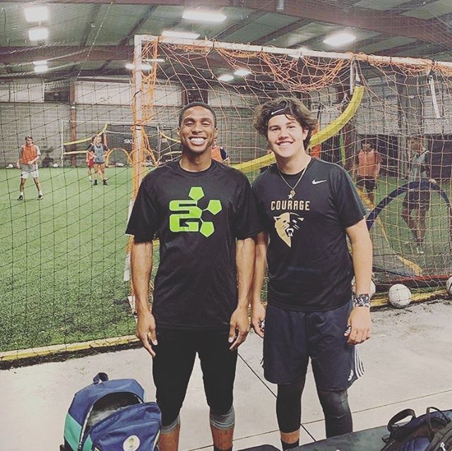 One of my favorite things about Soccer Genome is that we're blessed with the opportunity to potentially work with our students for many many years. It's how we create meaningful relationships with our athletes and why the SG Family is so strong! That said, it was great to see Coach Jarrett in the building competing in goalie wars and reminiscing on old times with his long time student and current SG Coach, Seth! Hoping for the chance to see J again soon. . . . . . #sgfamily #family #relationships #team #love #soccerfamily #real #beyondsoccer