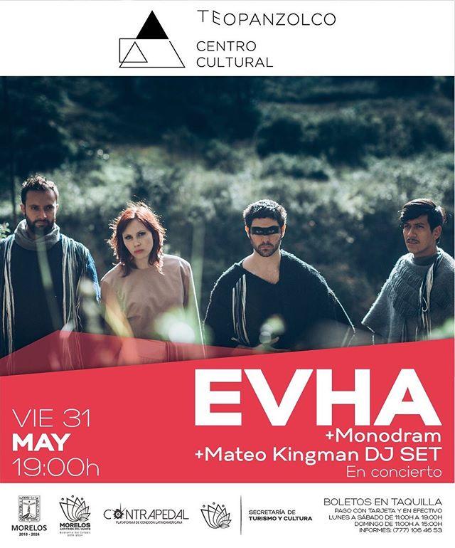 Los sonidos electro-andinos llegan este 31 de mayo a #cuernavaca en @ccteopanzolco junto a @monodram y @mateo_kingman (dj set). Les esperamos a las 19:00. @contrapedalconecta ❤️