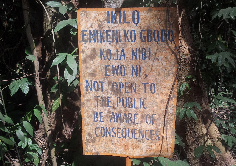 sacred grove osun osogbo, oshun oshogbo, susanne wenger, orisha image