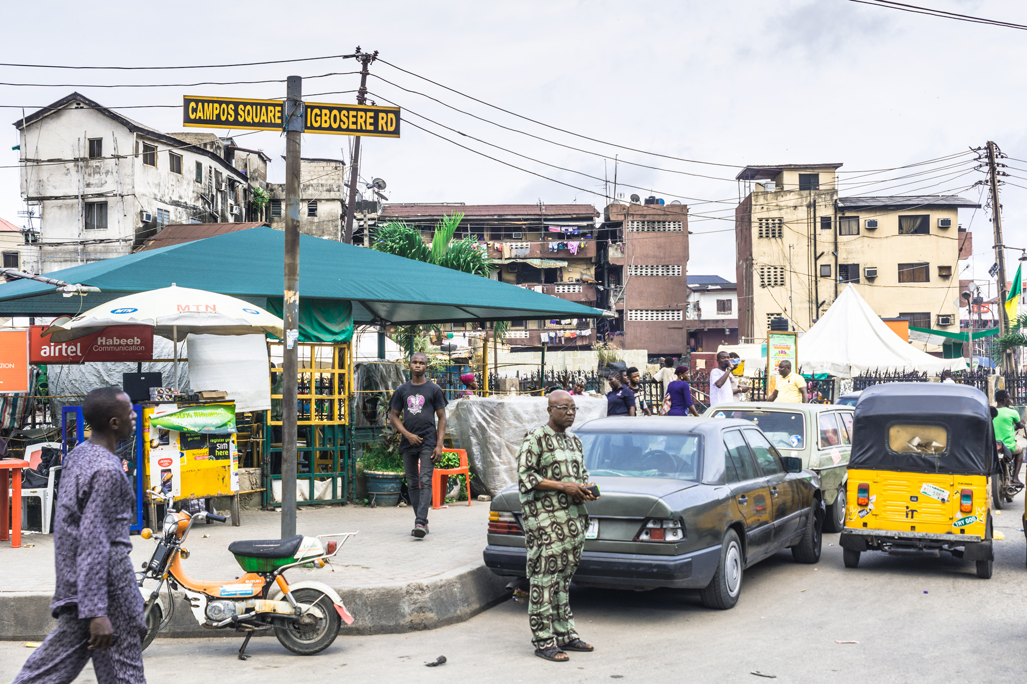 Campos Square in Lagos, named after the Afro-Cuban returnee Hilario Campos. His father was a Yorùbá slave.©Aderemi Adegbite