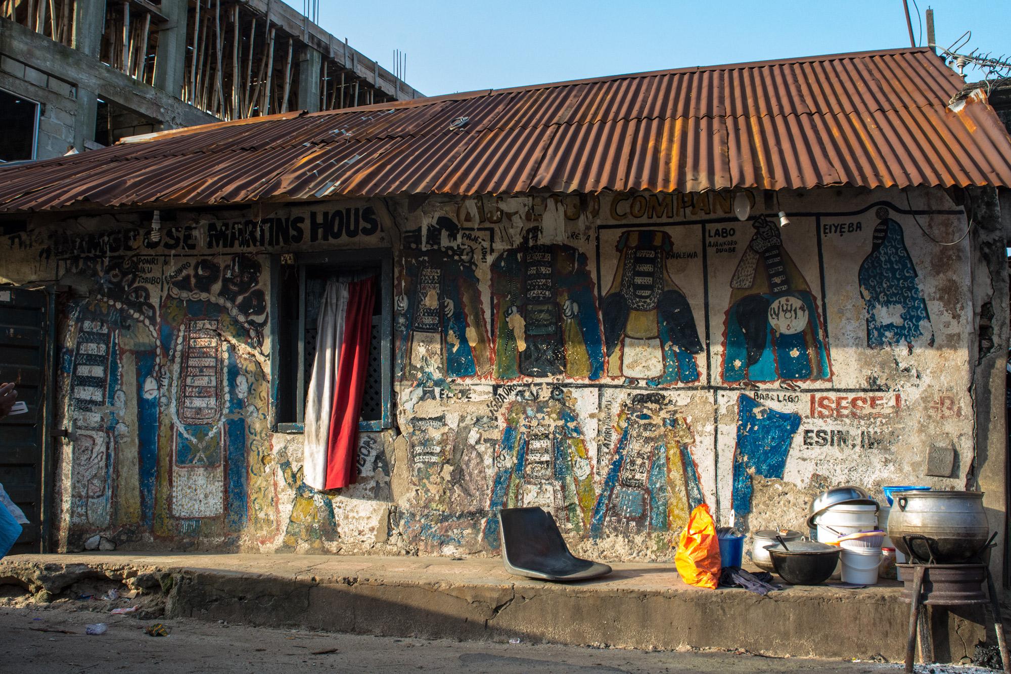 The Bamgboshe Martins House, home of a CandombléEgúngún from Brazil. ©Aderemi Adegbite