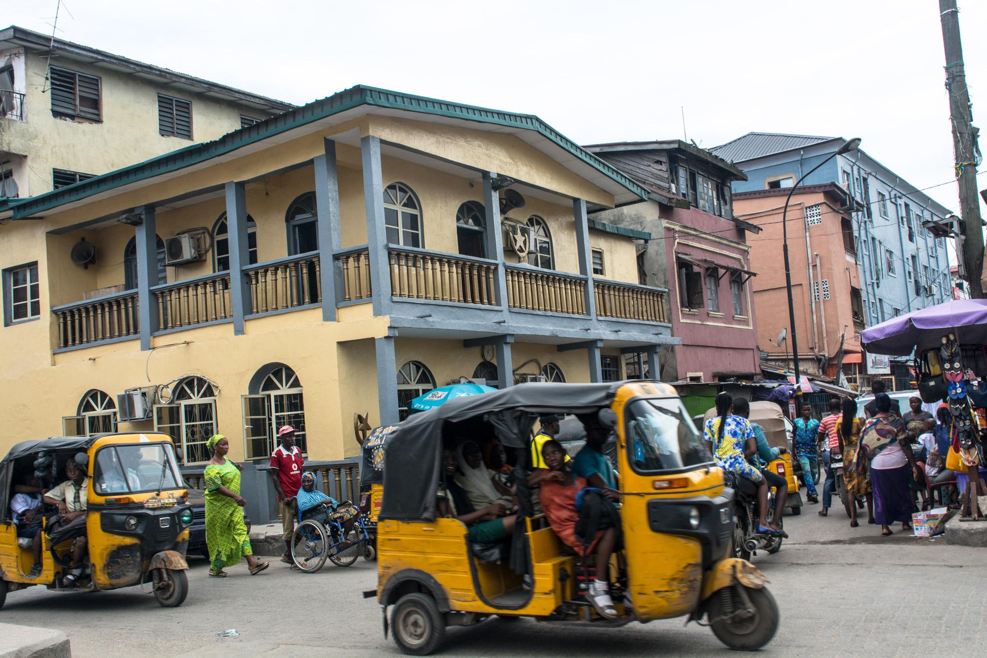 Street view in the Popo Aguda quarter, Lagos. ©Aderemi Adegbite
