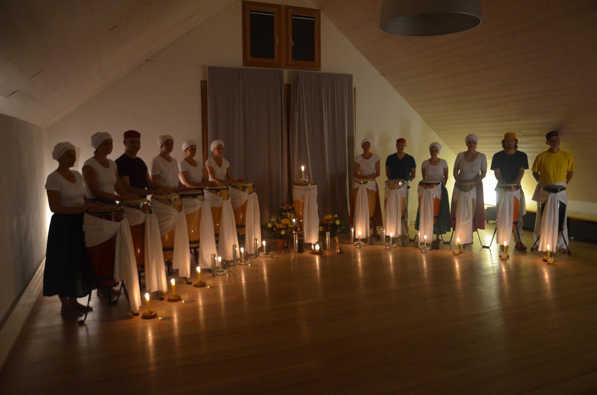 A ritual for the drums of the Ilé Axé Oxum © terra sagrada