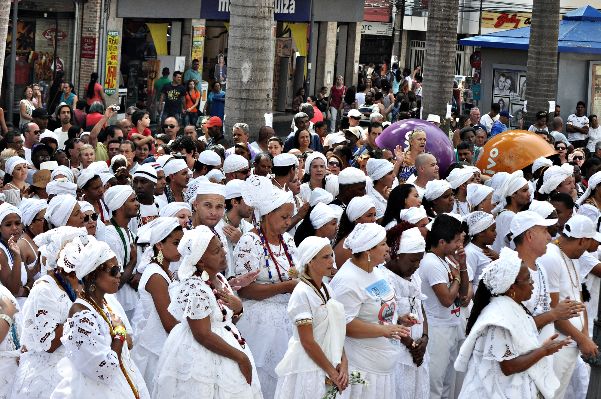 Millions of people follow Afro-Brazilian religions today. Photo  Robson B.Sampaio CC  BY-NC 2.0