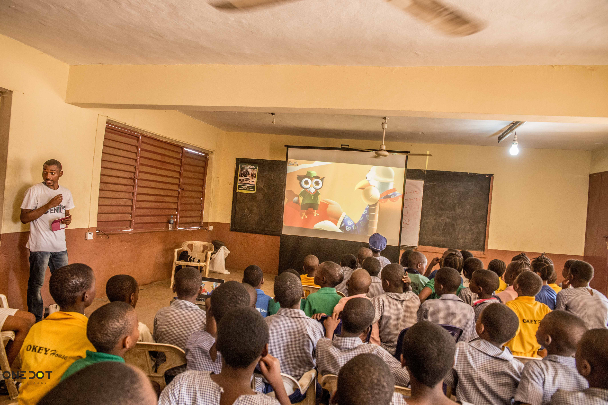 In a Nigerian classroom at a public school with Genii Games.  © Genii Games