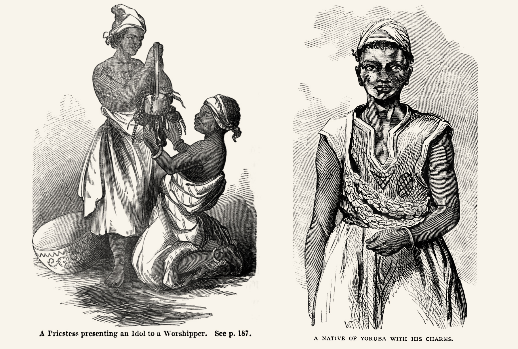 Compared to other book illustrations from that time, the missionaries'portraits of African people show them with dignity and respect.